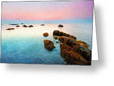 Nature Oil Canvas Landscape Greeting Card