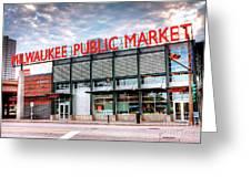 1275 Milwaukee Public Market Greeting Card