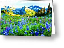 Nature Landscape Graphics Greeting Card