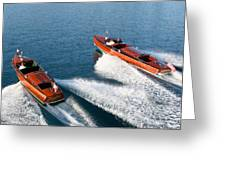 Classic Wooden Runabouts Greeting Card