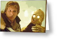 A Star Wars Poster Greeting Card