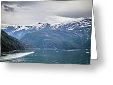 Beautiful Landscape In Alaska Mountains  Greeting Card