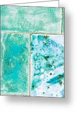 Blue Tiles Greeting Card
