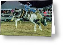 Bronco Riding Greeting Card