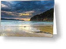 Cloudy Sunrise Seascape Greeting Card