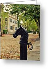 Nantucket Hitching Post Greeting Card