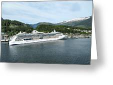 ketchikan alaska downtown of a northern USA town Greeting Card