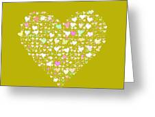 Love Heart Valentine Shape Greeting Card