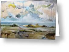 Misty Landscape Greeting Card