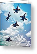Navy Blue Angels Greeting Card
