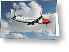 Norwegian Boeing 737-8jp Greeting Card