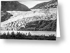 Panoramic View Of Mendenhall Glacier Juneau Alaska Greeting Card