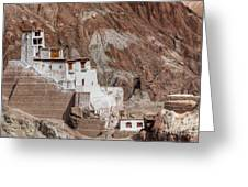 Ruins At Basgo Monastery Greeting Card