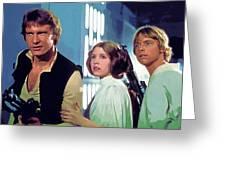 Star Wars Episode 2 Poster Greeting Card