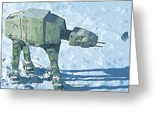 Star Wars On Poster Greeting Card