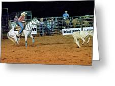 Steer Roping Greeting Card