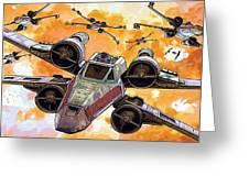 Trilogy Star Wars Poster Greeting Card