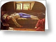 Wallis Henry The Death Of Chatterton Henry Wallis Greeting Card