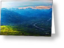 Oil Paintings Art Landscape Nature Greeting Card