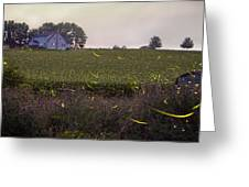 1300 - Fireflies And The House On Hillside Greeting Card