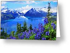 Nature Landscape Oil Painting On Canvas Greeting Card