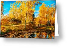 Oil Painting Landscape Pictures Nature Greeting Card
