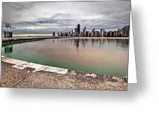 1323 A View From The Breakwall Greeting Card