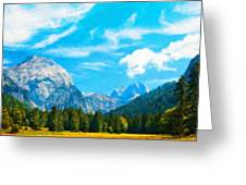 Nature Landscape Jobs Greeting Card