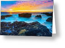 Oil Painting Landscape Pictures Greeting Card