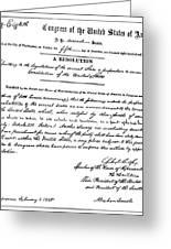 13th Amendment, 1865 Greeting Card