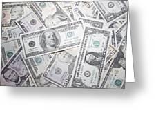 American Banknotes Greeting Card