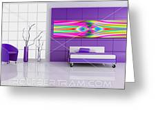 An Example Of Modern Art By Rolf Bertram In An Interior Design Setting Greeting Card