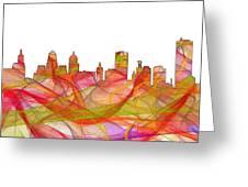 Buffalo New York Skyline Greeting Card
