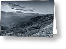 Chilly Winter Sunrise At Lunhgthang Sikkim West Bengal India Greeting Card