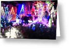 Christmas Light Bokeh At Daniel Stowe Gardens Belmont North Caro Greeting Card
