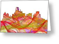 Dallas Texas Skyline Greeting Card