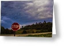 May Nebraska Storm Cells Greeting Card