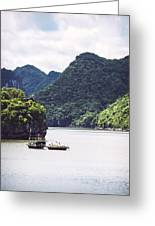 Picturesque Sea Landscape. Ha Long Bay, Vietnam Greeting Card