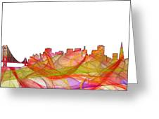 San Francisco California Skyline Greeting Card