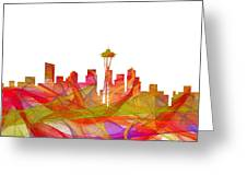 Seattle Washington Skyline Greeting Card
