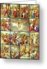 14 Stations Of The Cross Greeting Card