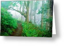 Nature Art Original Landscape Paintings Greeting Card