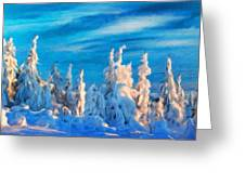Landscape Nature Drawing Greeting Card