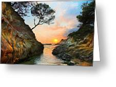 Nature Oil Painting Landscape Images Greeting Card