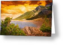 Nature Scenery Oil Paintings On Canvas Greeting Card