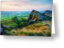 Nature Landscape Oil Greeting Card