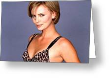 1491 Celebrity Charlize Theron  Greeting Card