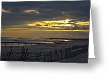 14th Street Fishing Pier Greeting Card
