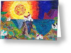 15-23  Village Paradise Greeting Card