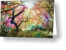 15 Abstract Japanese Maple Tree Greeting Card